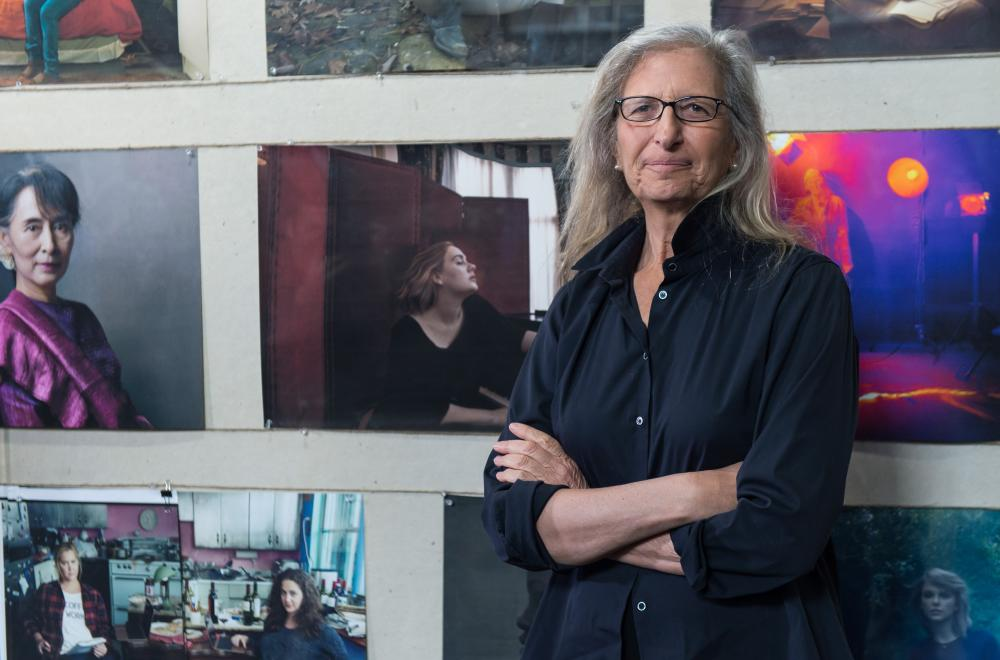 Annie Leibovitz attends the press preview of WOMEN: New Portraits exhibition in London