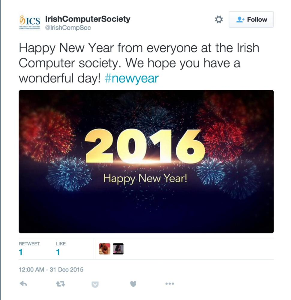 The Irish Computer Society falls foul of technology.
