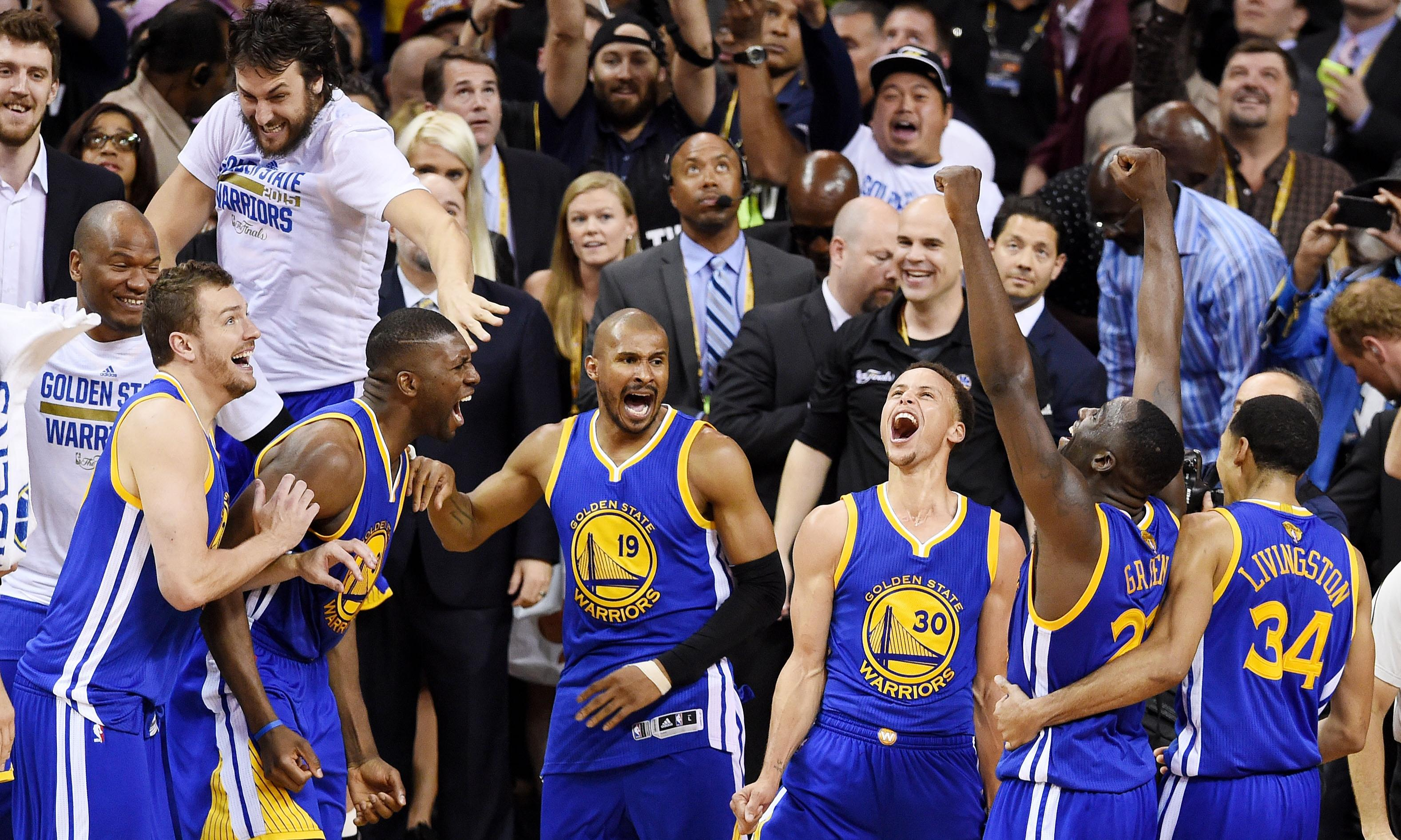 Golden State Warriors crowned NBA champions after easing past tired Cavs | Sport | The Guardian