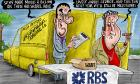Brian Adcock on the RBS sell-off – cartoon