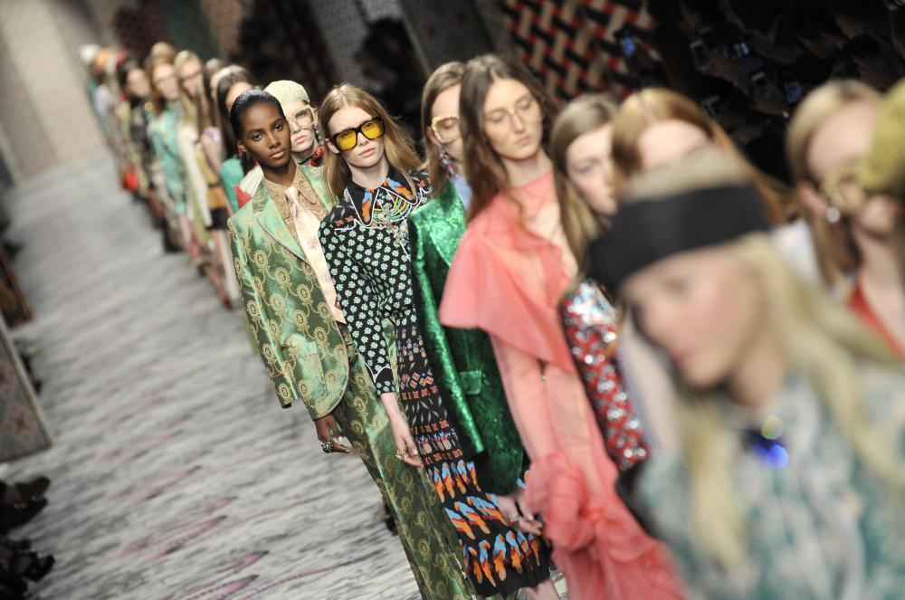 Gucci catwalk show in Milan, September 2015