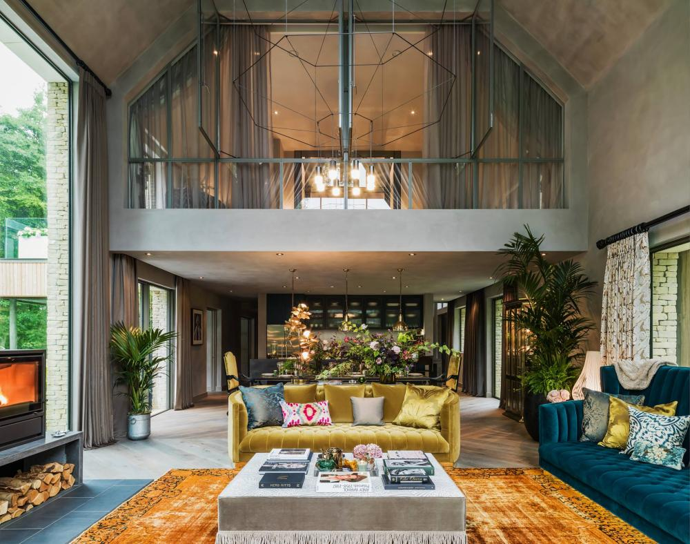 A Kate Moss designed room at The Barnhouse