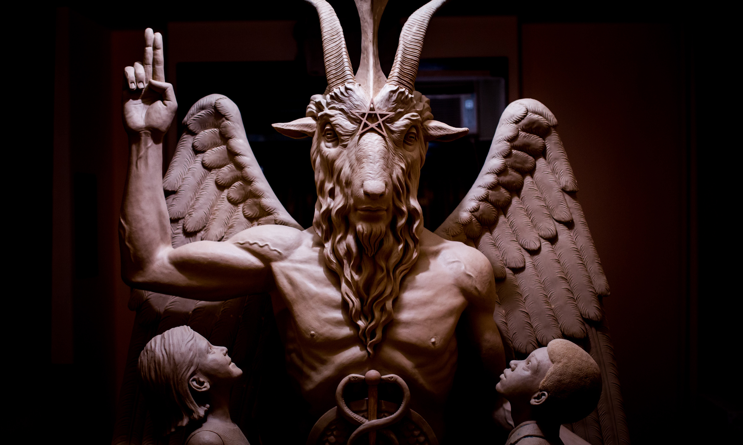 Satanists unveil sculpture in detroit after rejection at oklahoma