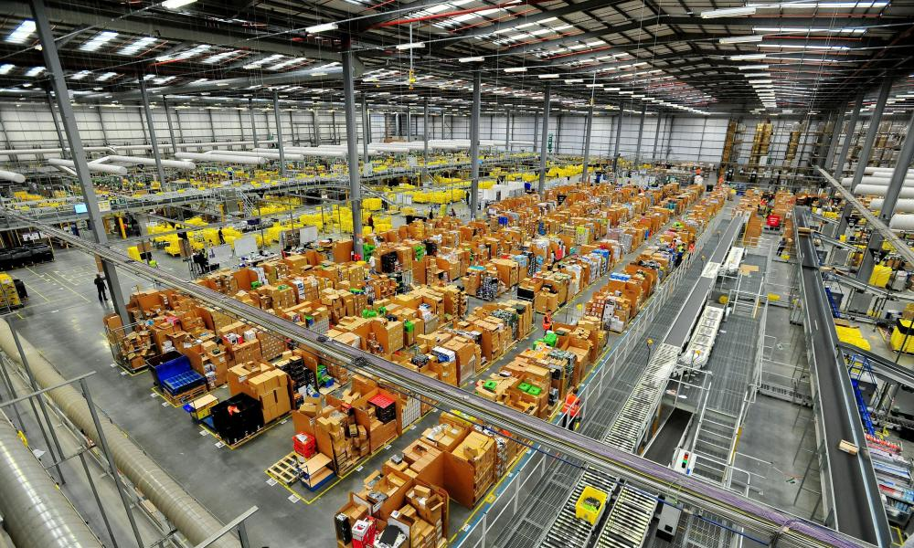 The Amazon fulfillment centre in Hemel Hempstead.