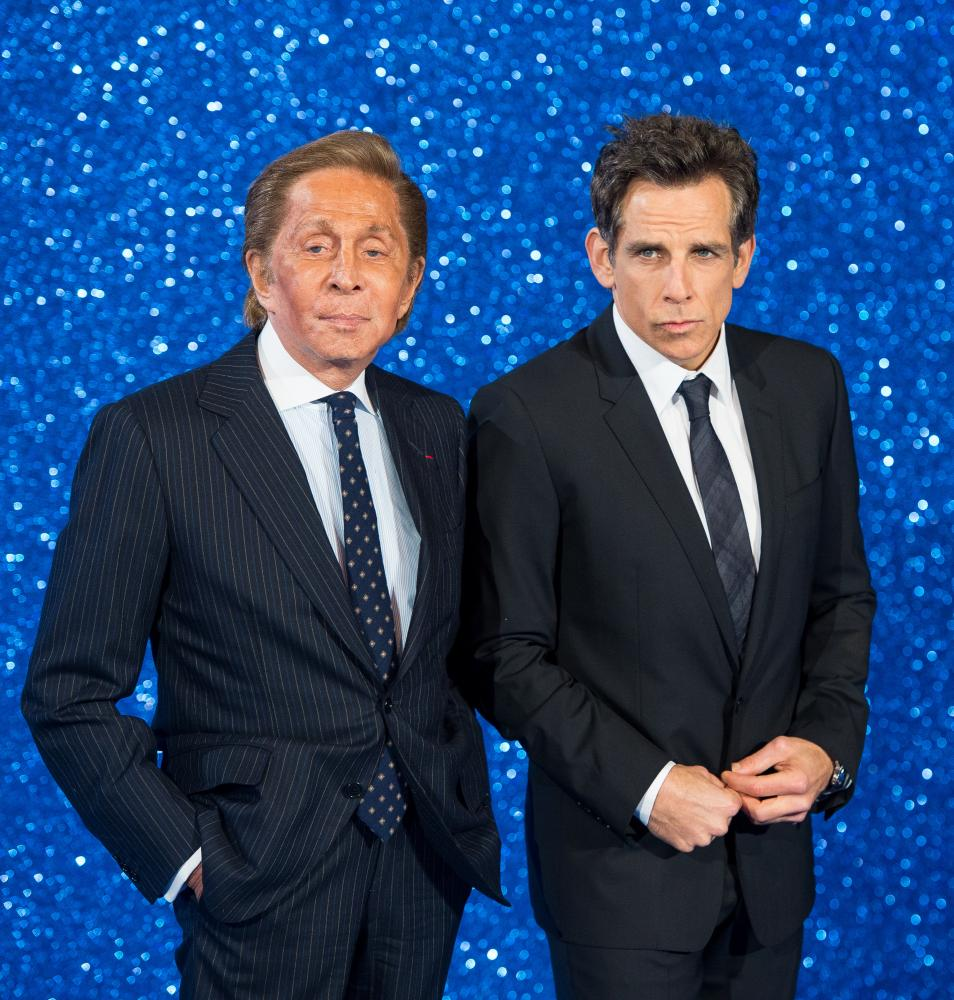 Garavani Valentino and Ben Stiller.