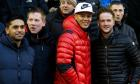 Manchester United's injured trio watch win at Liverpool with visiting fans