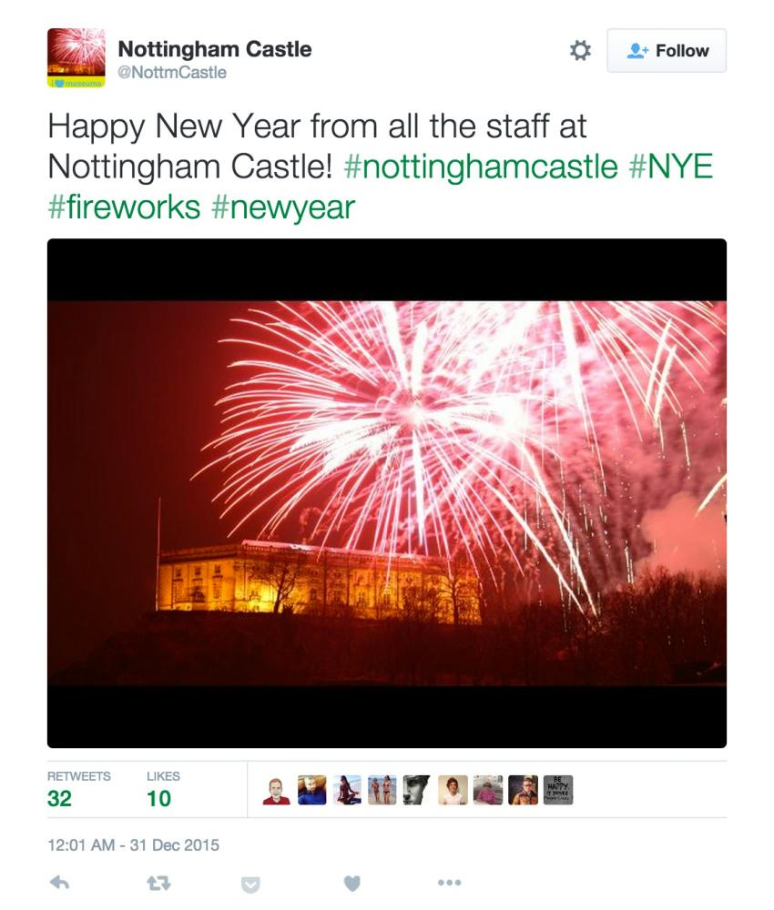 Nottingham Castle makes history with an early new year celebration.