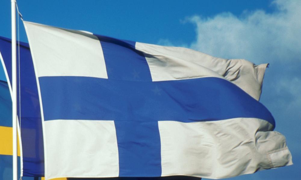 Scandinavian Flags<br />ca. 1990s, Helsinki, Finland --- Scandinavian Flags --- Image by Joel W. Rogers/CORBIS