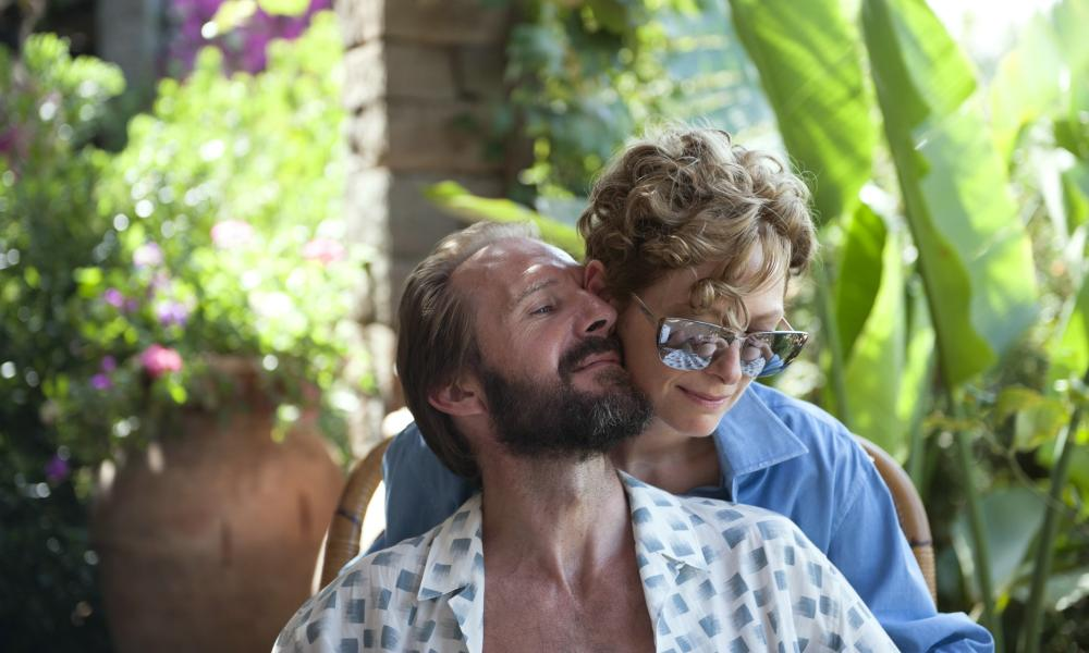 Ralph Fiennes and Tilda Swinton in A Bigger Splash.