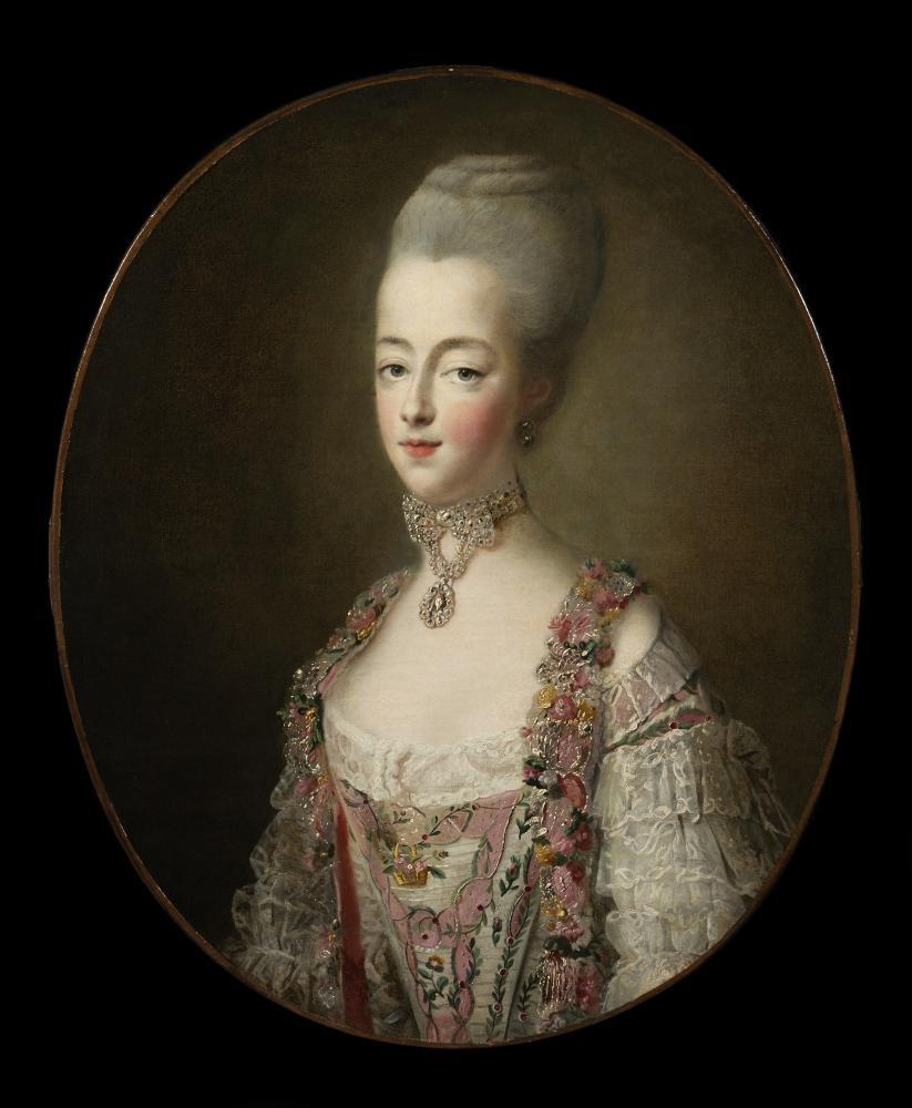 Oil painting of Marie Antoinette by François Hubert Drouais (1773)