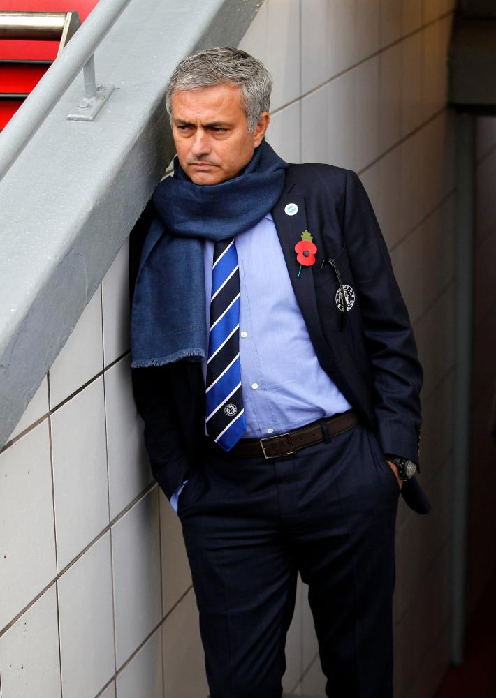 Mourinho at Anfield in 2014.