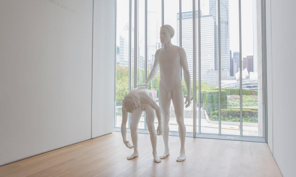 Huck and Jim, the double sculpture the Whitney rejected.