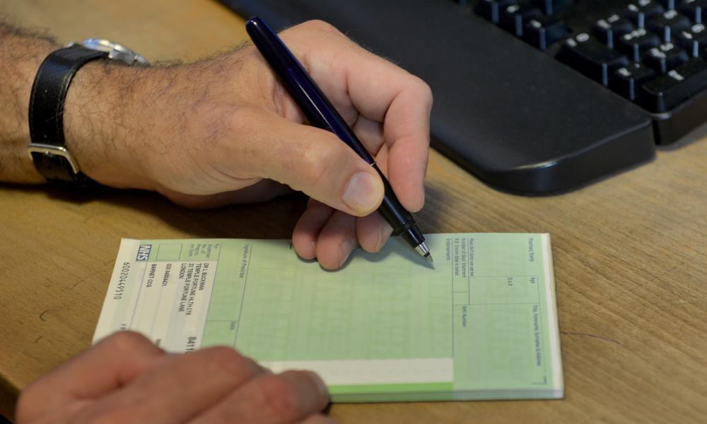 GP signs prescription form