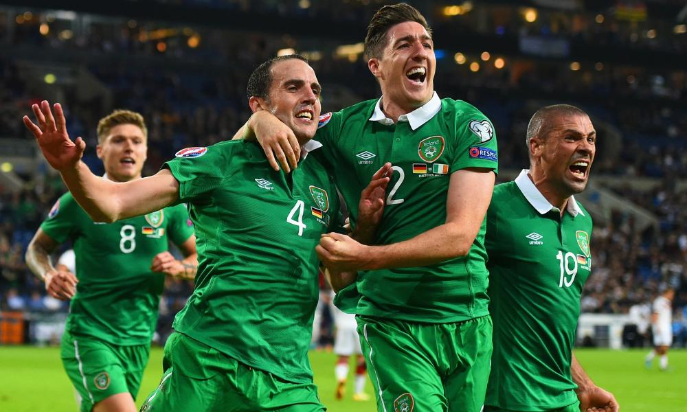 Republic of Ireland drew in Germany a year ago thanks to a goal by John O'Shea, left, and may need to beat Joachim Löw's team in Dublin if they are to reach the finals.