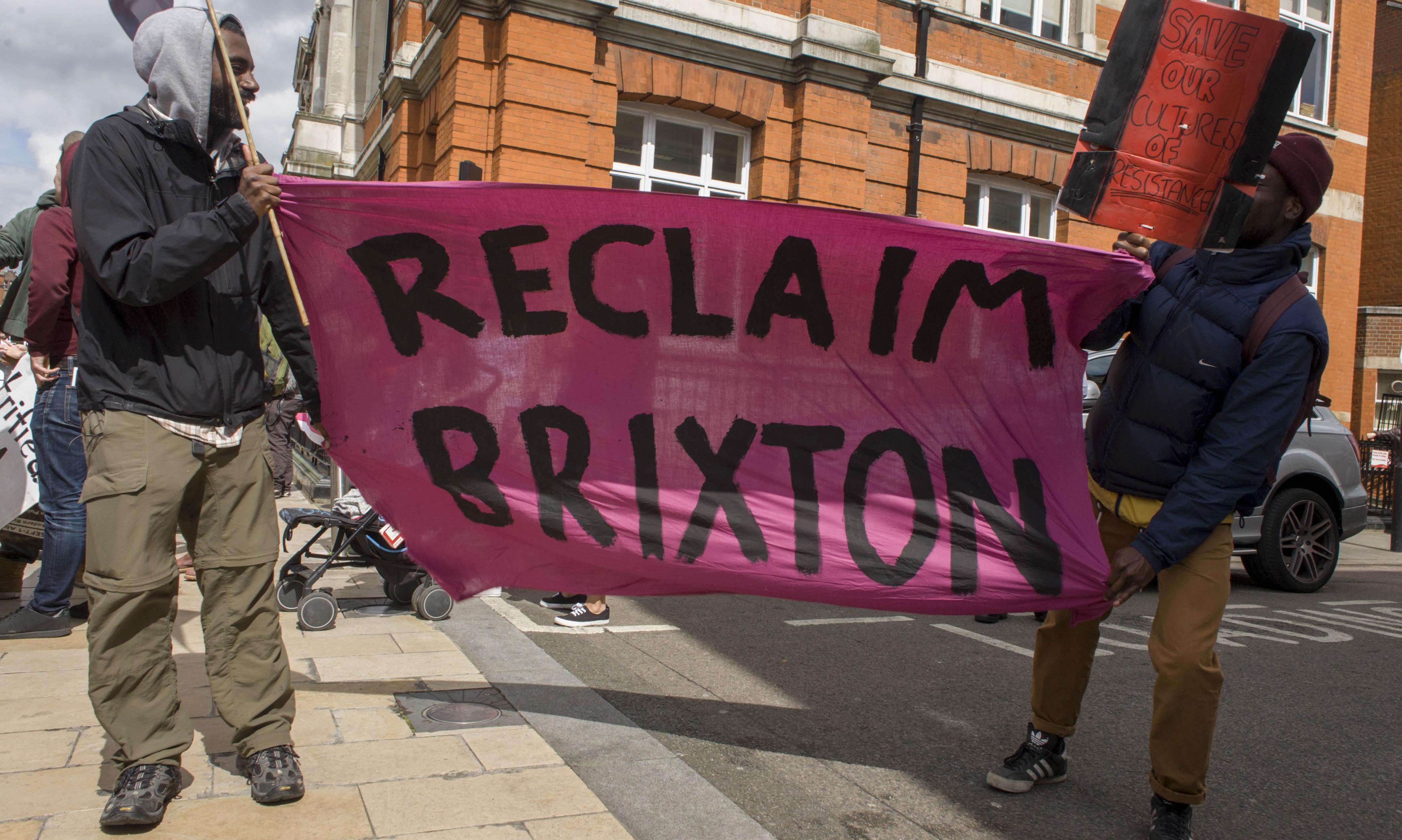 Brixton at standstill as crowds register frustration at gentrification