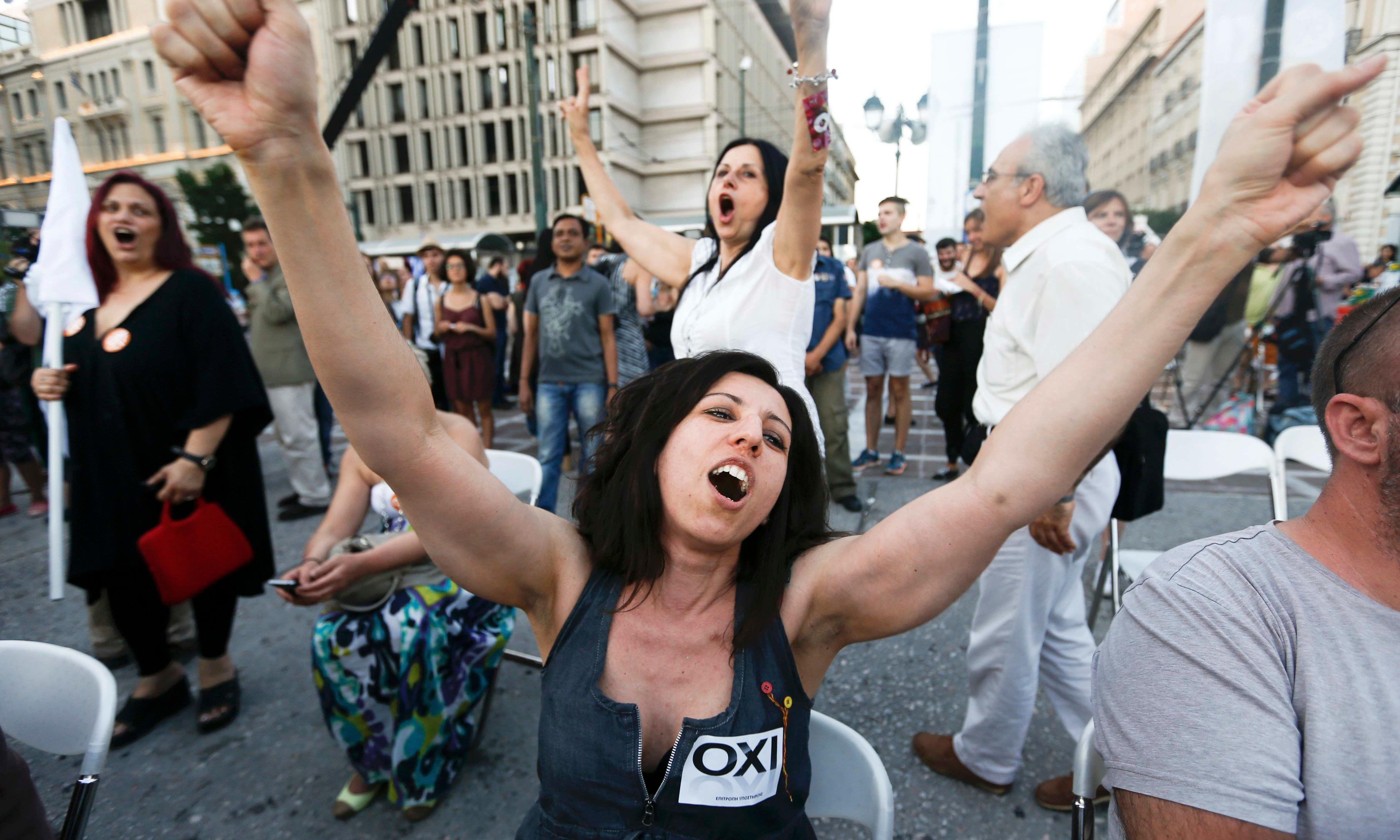 Greece heads towards historic no vote against austerity measures