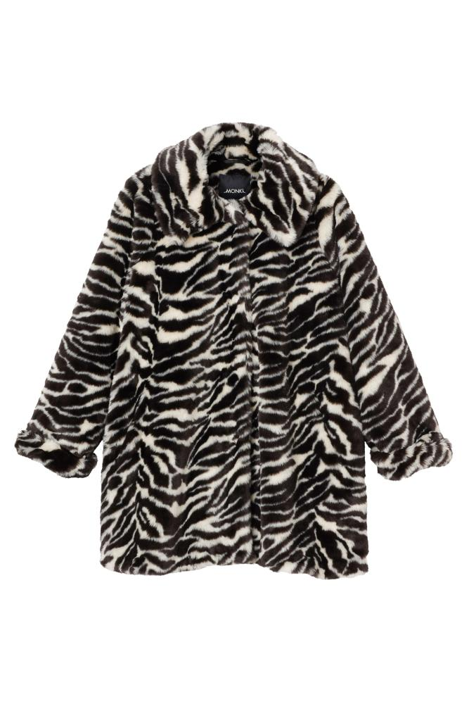 Faux fur coat, £75, monki.com