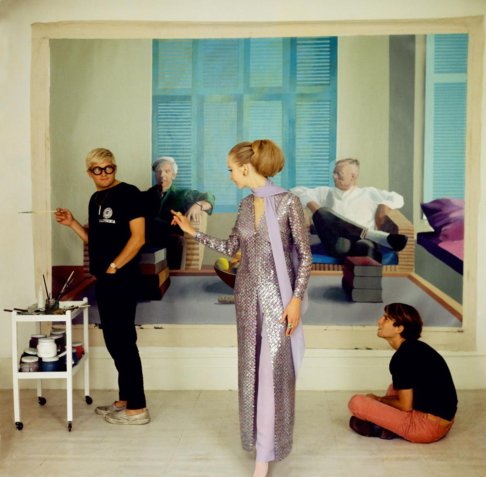 David Hockney, Maudie James and Peter Schlesinger.