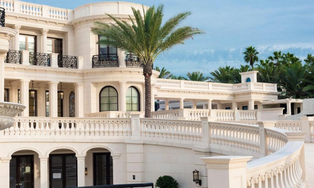 Le Palais Royal in Hillsboro Beach, Florida inspired by Paris's Chateau de Versailles