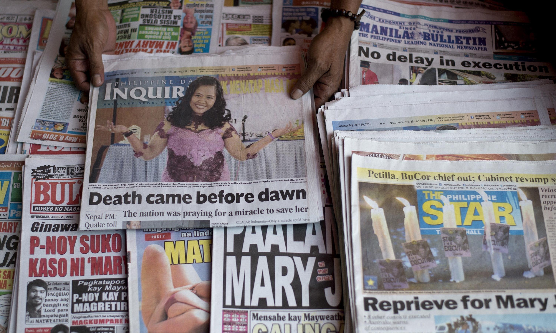 Philippine news paper headlines