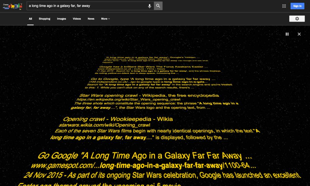 Google Star Wars estiloan