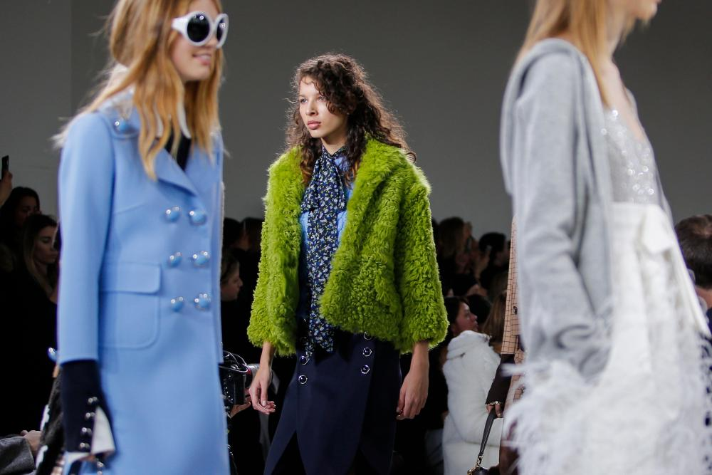 Models at New York fashion week, Michael Kors collection