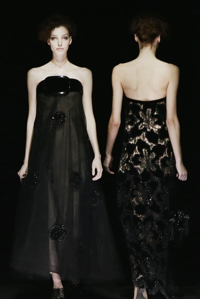Milan fashion week: Armani looks to next year's red carpet ...