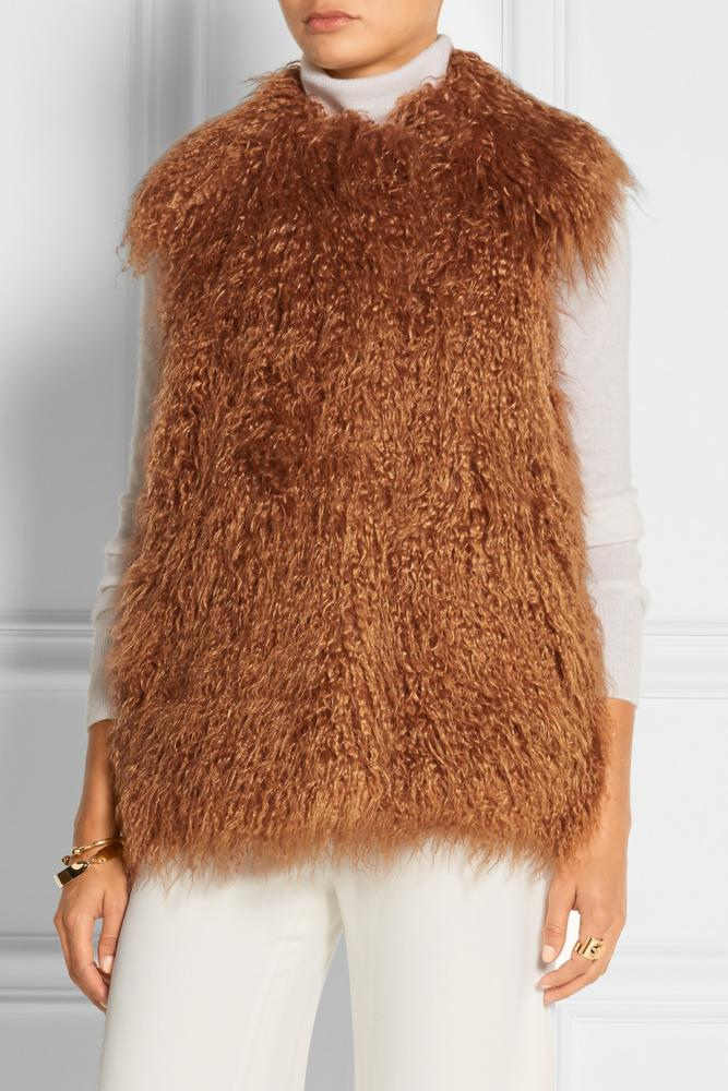 Stella McCartney faux fur gilet, £550.