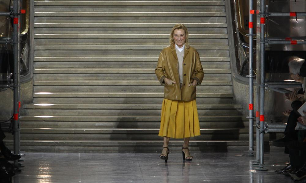 Miuccia Prada after the AW15 Miu Miu show.