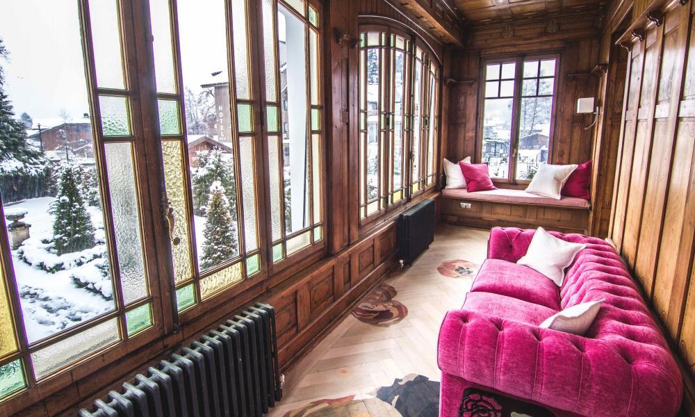 Stting room with garden view Villa Rose, Samoëns, France