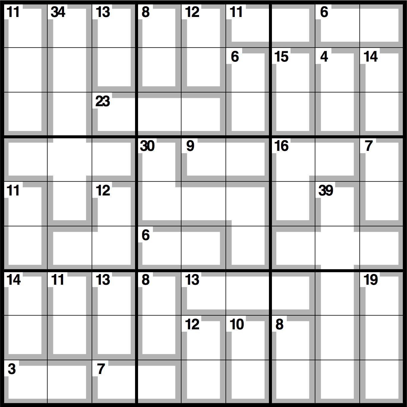 sudoku blank grid