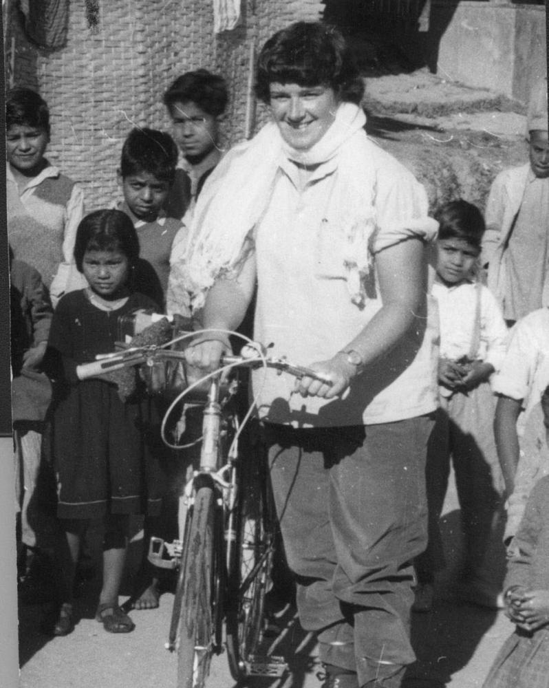 Dervla Murphy, India, around the time of writing Full Tilt.