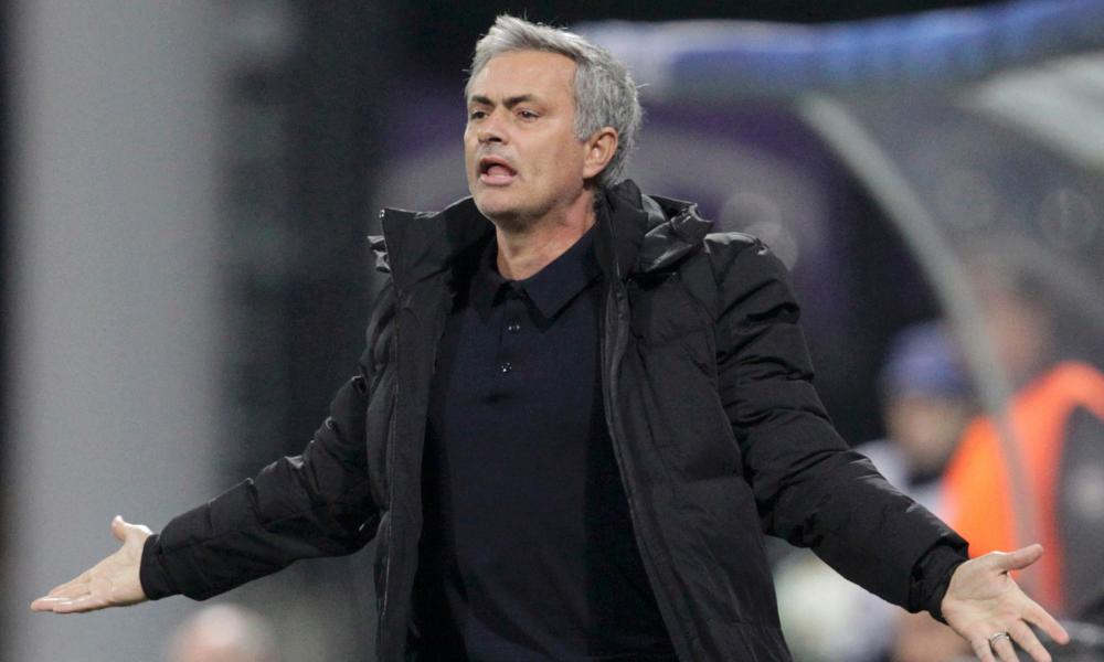 José Mourinho in Slovenia in November.