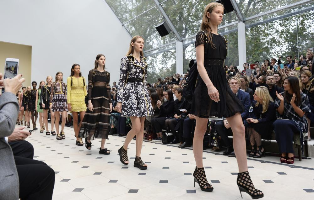 Burberry Womenswear Spring/Summer 2016, London.