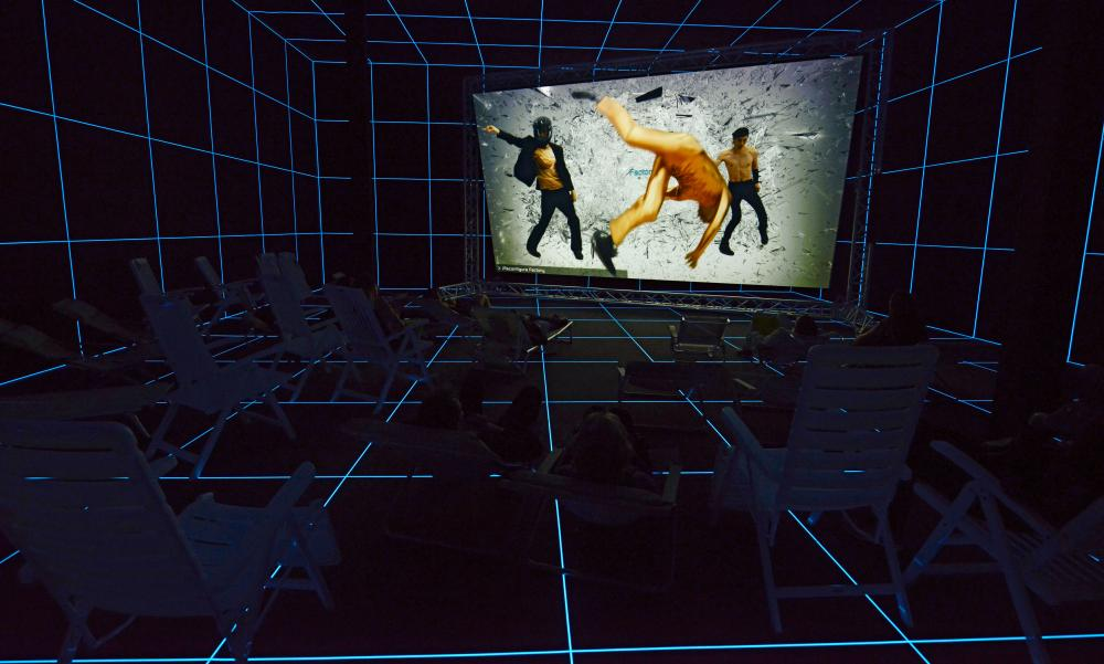 Hito Steyerl's Factory of the Sun at the Venice Biennale.