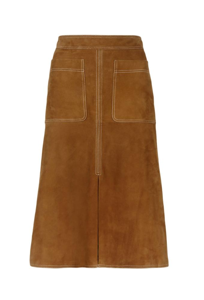 The M&S Autograph Suede A-Line Skirt