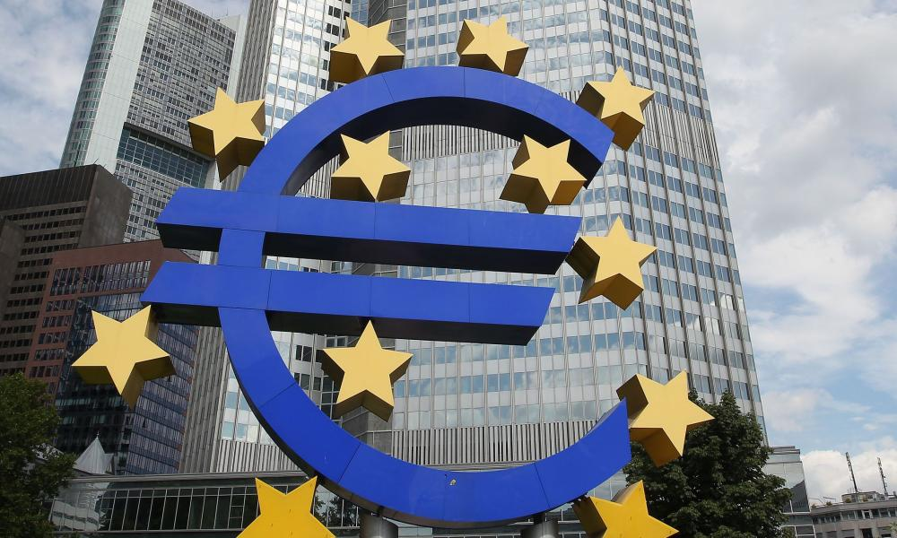 (FILES) A picture taken on August 7, 2014 shows the Euro logo in front of the European Central Bank, ECB in Frankfurt am Main, western Germany. Financial markets are looking to the European Central Bank to open the cash floodgates next week after consumer price data showed the 18-country eurozone is flirting with deflation, analysts said. AFP PHOTO / DANIEL ROLANDDANIEL ROLAND/AFP/Getty Images