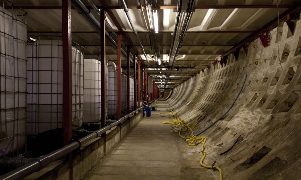 The underground tunnels in Clapham, south London.