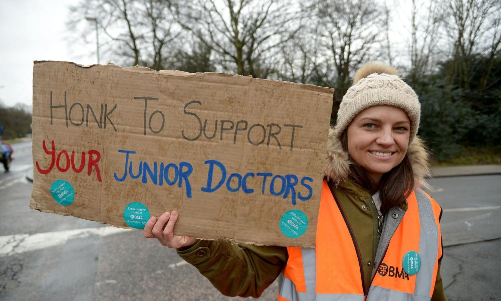 A junior doctor on the picket line