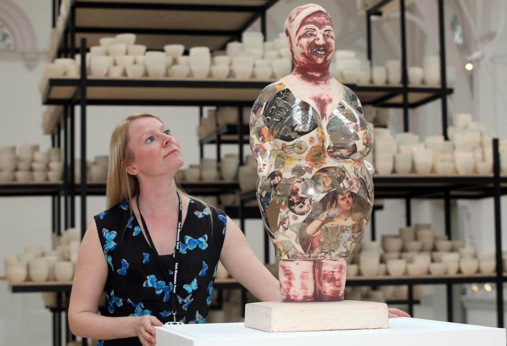 A Grayson Perry work at the heart of the newly created Centre for Ceramic Arts at York Art Gallery.