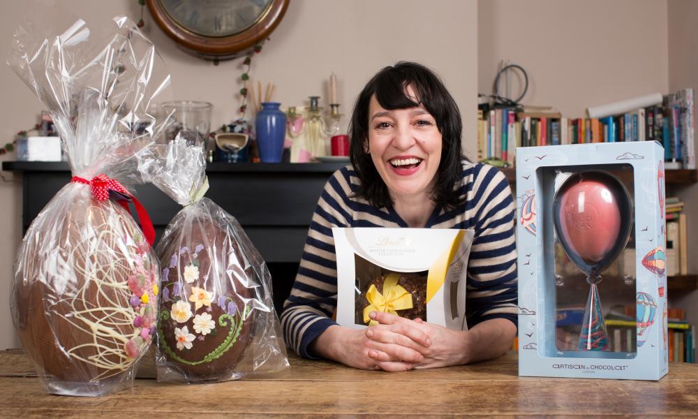 Zoe with the balloon egg (far right).