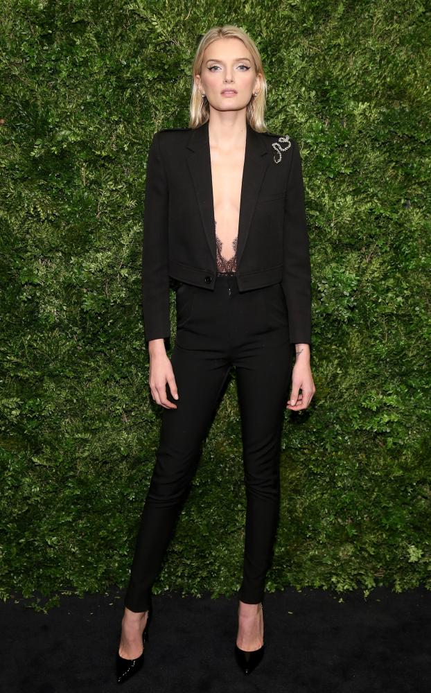 Lily Donaldson at the Museum of Modern Art Film Benefit A Tribute to Cate Blanchett, New York, 2015.