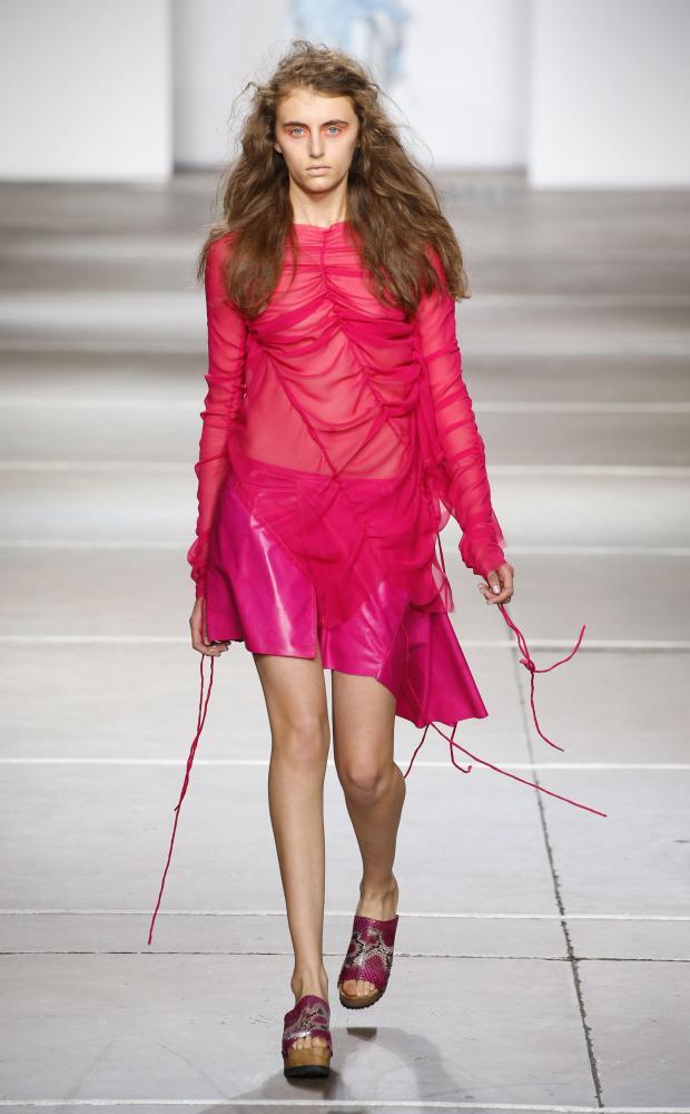 A model on the Marques Almeida catwalk