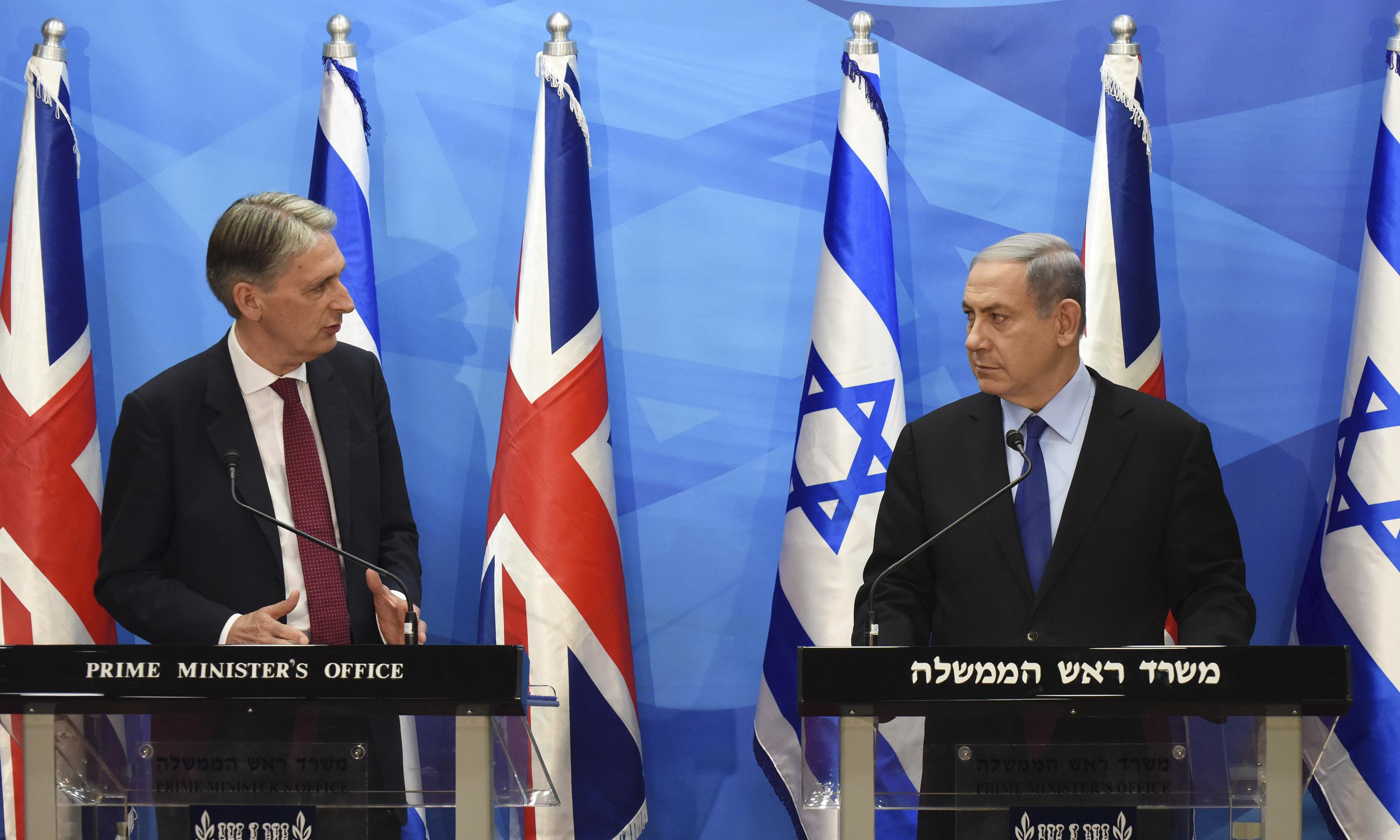 Netanyahu and Hammond spar over Iran nuclear agreement