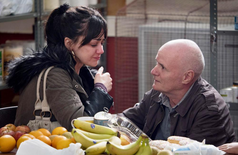 A scene from Ken Loach's film I, Daniel Blake, which recently tackled the issue of food poverty