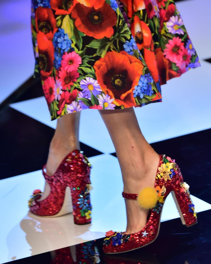 Dolce and Gabbana autumn/winter show.