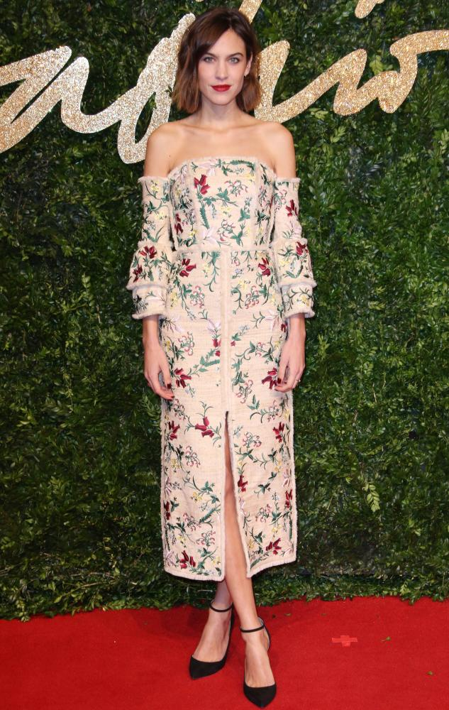 Alexa Chung at the British Fashion Awards, London, 2015