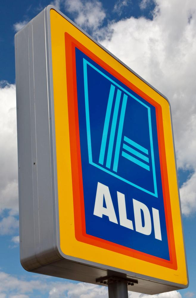 Various, Britain - 2012<br/>Mandatory Credit: Photo by Photography/REX Shutterstock (1752150d) ALDI supermarket sign, Hoddesdon, Hertfordshire Various, Britain - 2012 Karl Albrecht, who co-founded Aldi supermarket chain with late brother Theo, has died aged 94