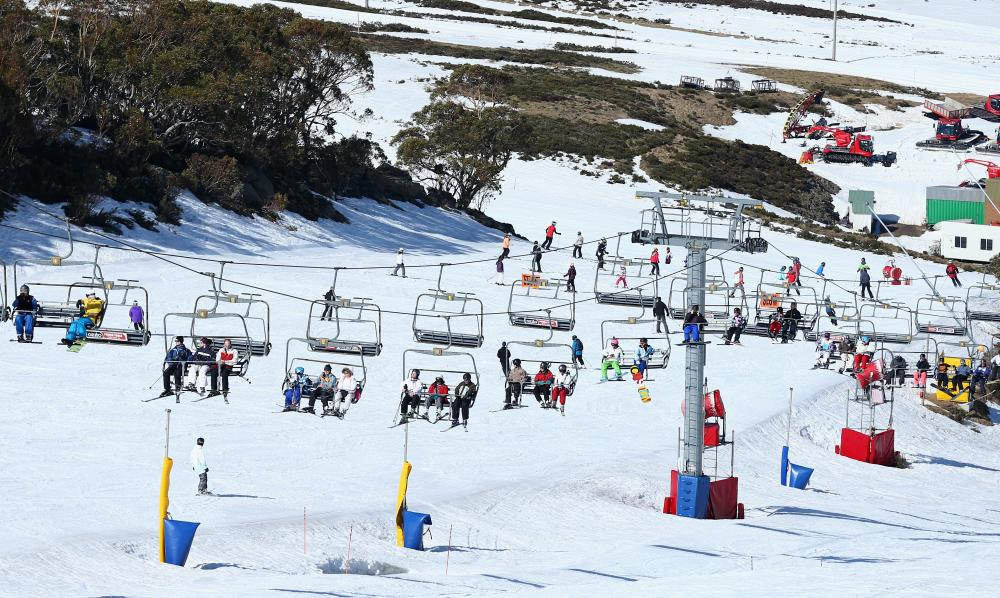 Skiers take to the slopes.