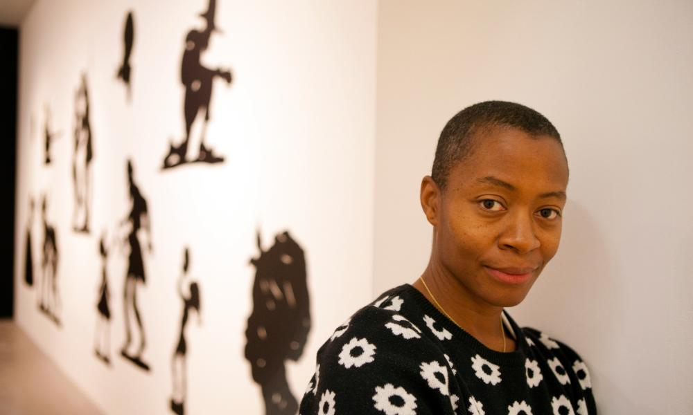 Artist Kara Walker, whose work was featured in the No Man's Land exhibition in Miami.